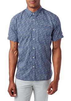 7 Diamonds Never Surrender Slim Fit Short Sleeve Button-Down Sport Shirt