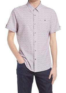 7 Diamonds Painted Memory Short Sleeve Performance Button-Up Shirt