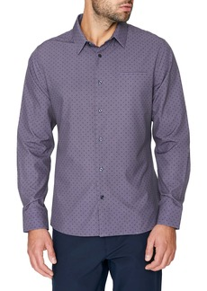 7 Diamonds Picture This Slim Fit Stretch Print Button-Up Shirt