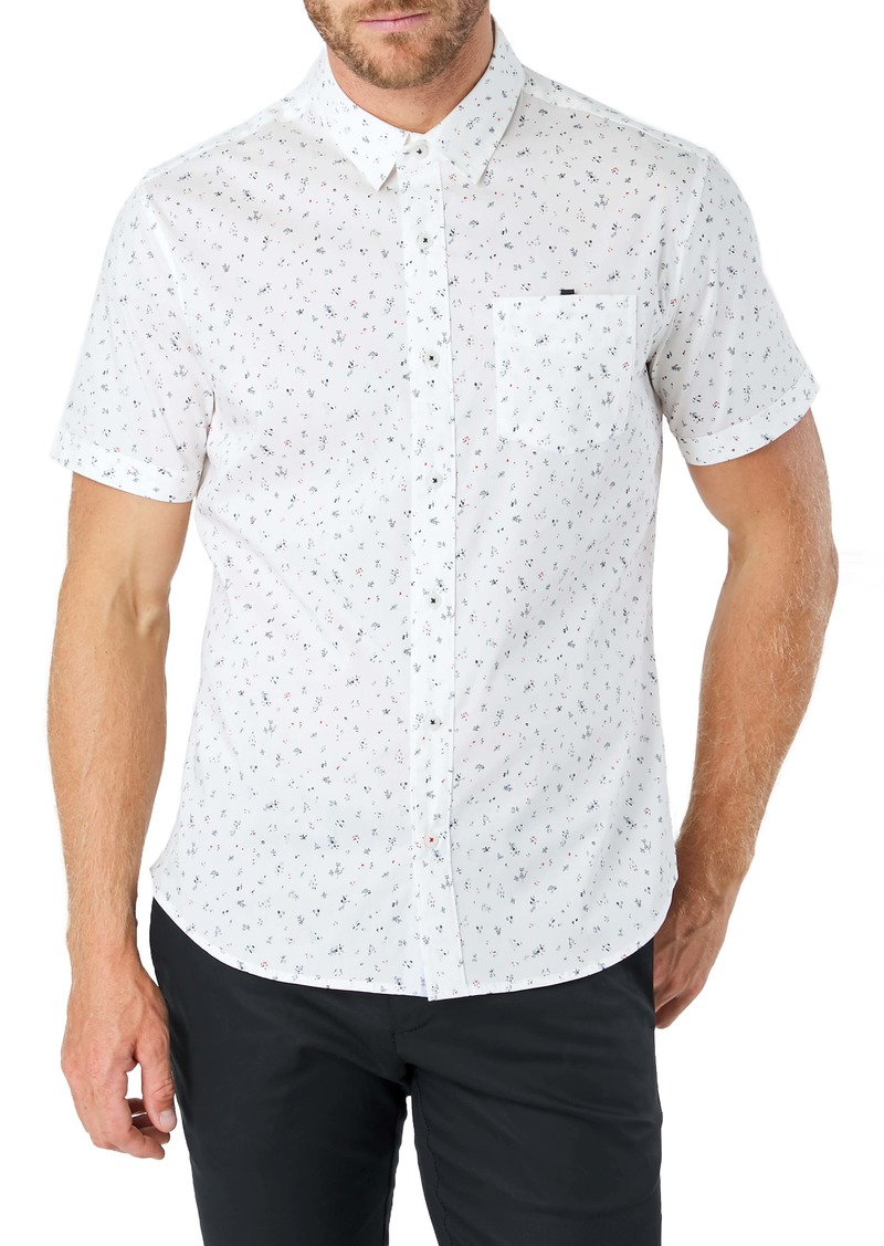 7 Diamonds Spellbound Slim Fit Floral Short Sleeve Button-Up Shirt