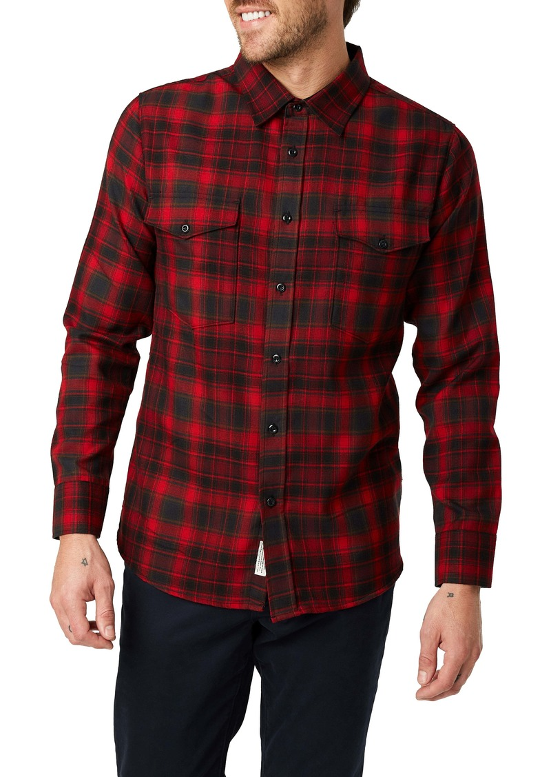 7 Diamonds Spruce Slim Fit Plaid Flannel Button-Up Shirt