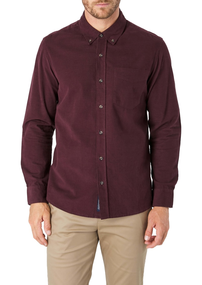 7 Diamonds The Darklands Slim Fit Corduroy Button-Down Shirt