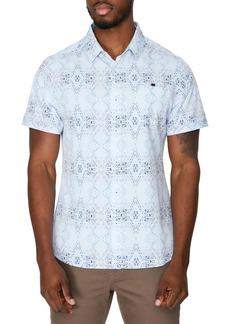 7 Diamonds Urban Spaceman Slim Fit Short Sleeve Stretch Button-Up Shirt