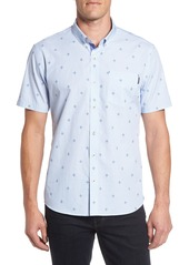 7 Diamonds Young Galaxy Embroidered Stripe Woven Shirt