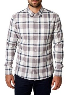 7 Diamonds Youngblood Trim Fit Plaid Sport Shirt