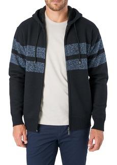 7 Diamonds Dublin Striped Hooded Zip Sweater