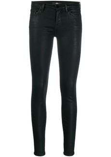 7 For All Mankind low rise coated skinny trousers