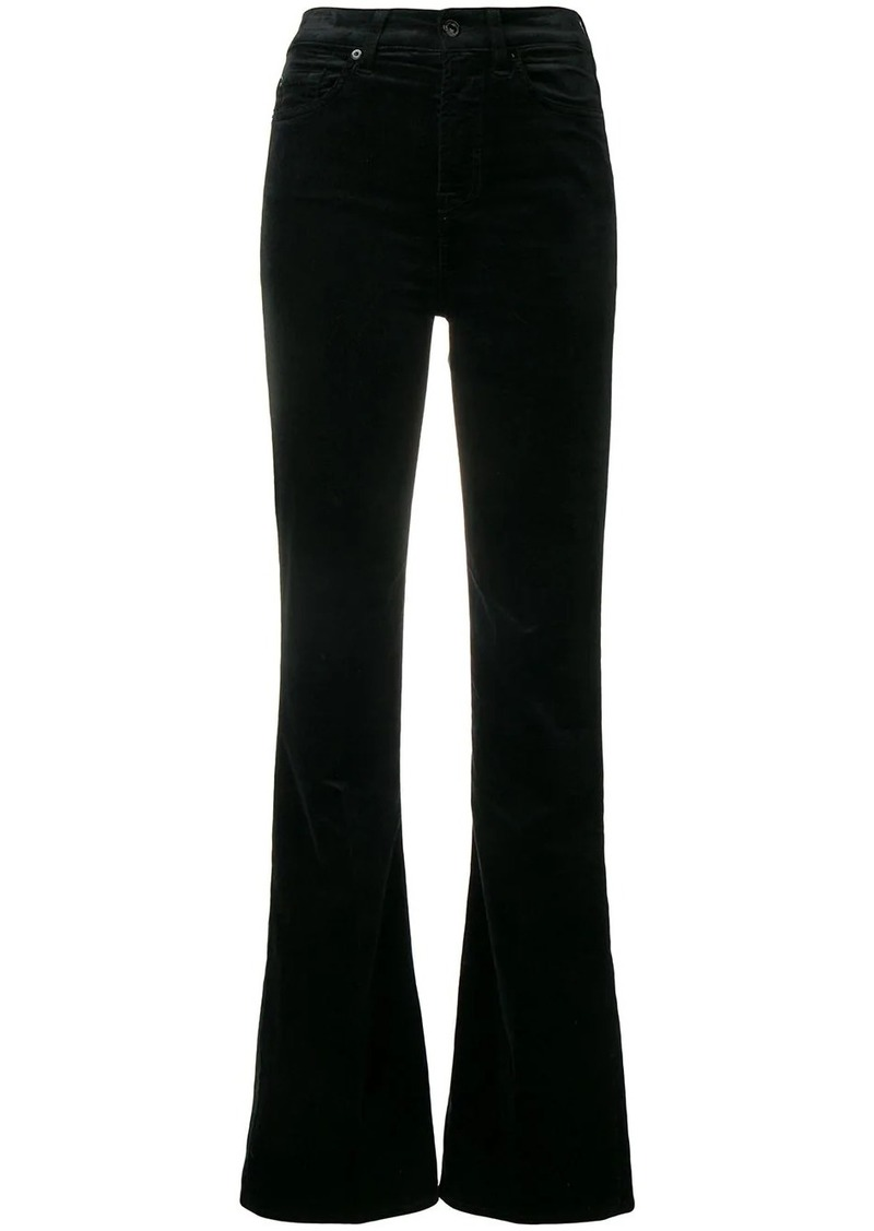 7 For All Mankind velvet flared jeans