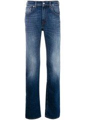 7 For All Mankind faded detail straight-leg jeans