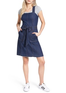 7 For All Mankind® A-Line Denim Dress (Luxe Lounge Deep Blue)