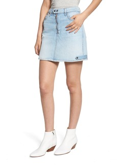 7 For All Mankind® A-Line Moto Miniskirt