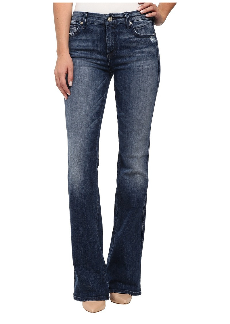 """7 For All Mankind """"A"""" Pocket with Navy A in Lake Blue"""