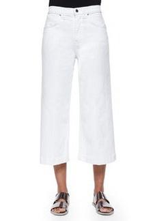 7 For All Mankind Wide-Leg Denim Culottes