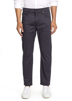 7 For All Mankind® Adrien Slim Fit Pants (Plaid Rinse)
