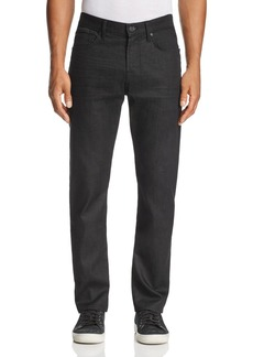 7 For All Mankind Airweft Straight Fit Jeans in Black