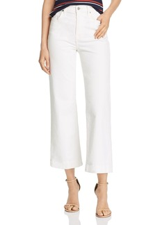 7 For All Mankind Alexa Cropped Wide-Leg Corduroy Jeans