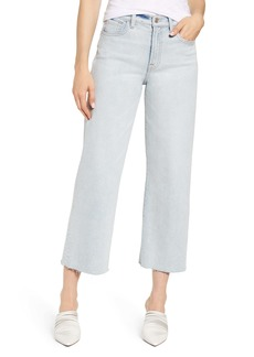 7 For All Mankind® Alexa Frayed Crop Wide Leg Jeans (Luxe Vintage Cloud)