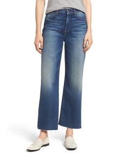 7 For All Mankind® Alexa Frayed Hem Crop Wide Leg Jeans (Luxe Vintage Femme)