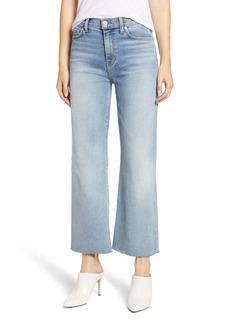 7 For All Mankind® Alexa Frayed Hem Crop Wide Leg Jeans