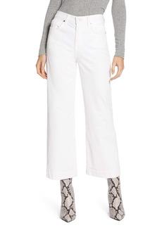 7 For All Mankind® Alexa High Waist Crop Wide Leg Corduroy Pants