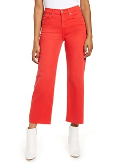 7 For All Mankind® Alexa High Waist Crop Wide Leg Jeans (White Runway)