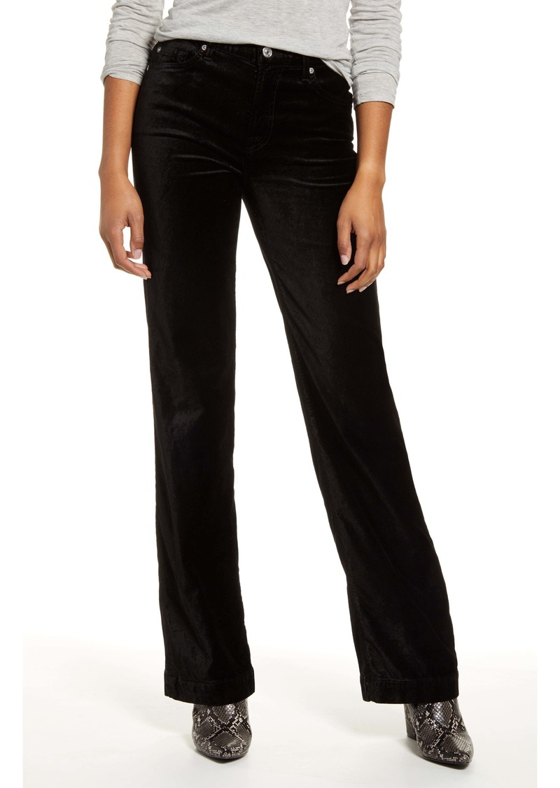 7 For All Mankind® Alexa High Waist Velvet Trouser Pants