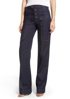 7 For All Mankind® Alexa Utility Wide Leg Jeans (Utility Rinse)