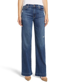 7 For All Mankind® Alexa Wide Leg Jeans (Broken Twill Vanity)