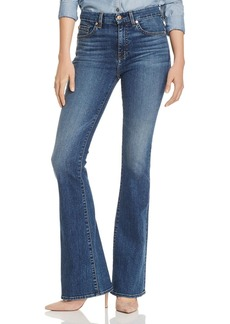 7 For All Mankind Ali Flared Jeans in Blue Monday