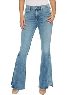 7 For All Mankind Ali Jeans w/ Side Seam Split in Gold Coast Waves