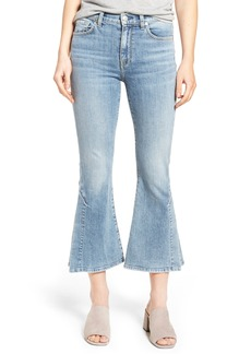 7 For All Mankind® Ali Split Hem Crop Flare Jeans