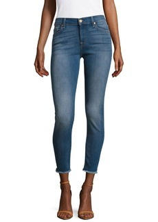 7 For All Mankind Ankle Gwenevere With Destroy Jeans