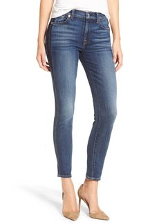 7 For All Mankind® Ankle Skinny Jeans (Medium Shadow Blue)