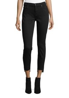 7 For All Mankind Ankle-Skinny Jeans with Hem Splits
