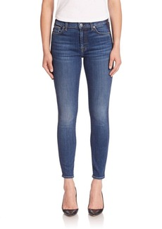 7 For All Mankind Ankle Skinny Jeans With Shadow Tux Stripe