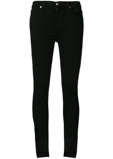 7 For All Mankind asymmetric hem jeans - Black