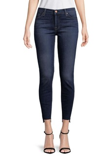 7 For All Mankind Asymmetrical Cuff Ankle Jeans
