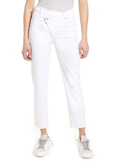 7 For All Mankind® Asymmetrical Waist Straight Leg Jeans (Prince St.)