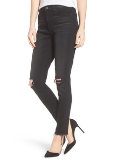 7 For All Mankind® Aubrey High Waist Skinny Jeans (Aged Onyx 3)