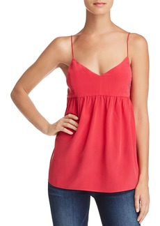 7 For All Mankind Babydoll Silk Camisole Top