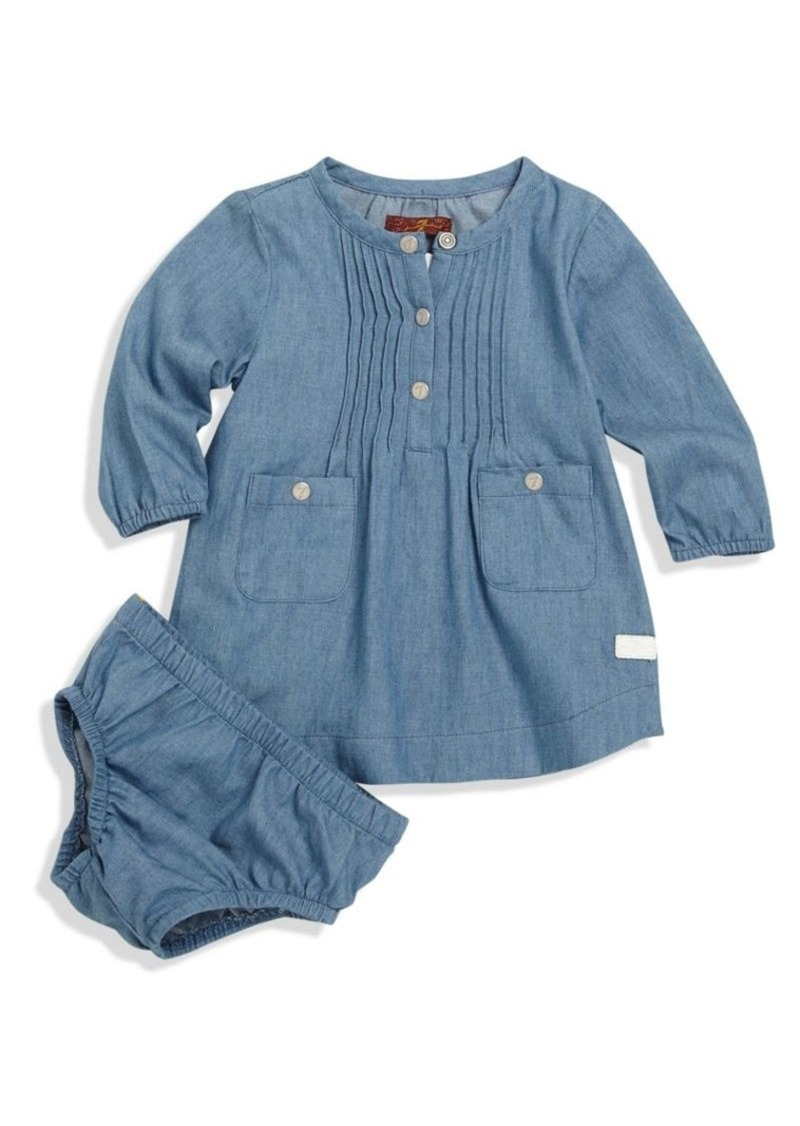 7 For All Mankind Baby's Denim Dress & Bloomers Set