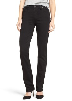 7 For All Mankind® 'b(air) - Kimmie' Straight Leg Jeans (Bair Black)