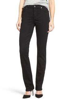 7 For All Mankind® 'b(air) - Kimmie' Straight Leg Jeans (Bair Black)