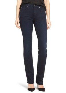 7 For All Mankind® 'b(air) - Kimmie' Straight Leg Jeans (Blue Black River Thames)