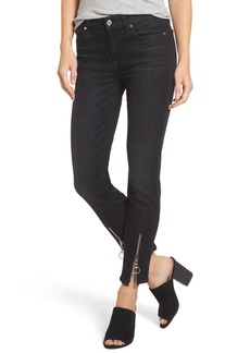 7 For All Mankind® b(air) - Roxanne Ankle Zip Jeans (Bair Noir)