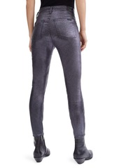 7 For All Mankind® (b)air Coated High Waist Ankle Skinny Jeans