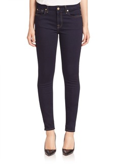 7 For All Mankind Rinsed Indigo Skinny Jeans