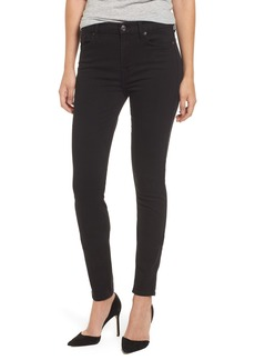 7 For All Mankind® b(air) High Waist Skinny Jeans (Bair Black)