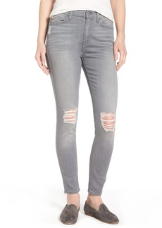 7 For All Mankind® b(air) High Waist Skinny Jeans (Chrysler Grey)