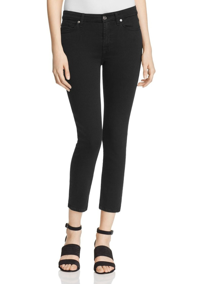 7 For All Mankind b(air) Kimmie Crop Jeans in Black